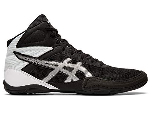 ASICS Men's Matflex 6 Wrestling Shoes, 10.5M, Black/Silver