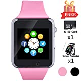 Bluetooth Smart Watch, Smart Watch for Android Phones with SD SIM Card Slot Watch Phone Call Message Camera Pedometer Compatible with iOS (Partial Functions) Sweatproof for Kids Girls Women
