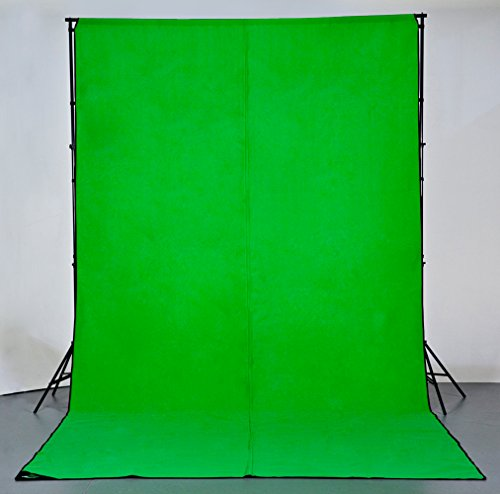 Digital Juice Chroma Pop Green Screen, 8 Foot x 18 Foot Portable Fabric  Chromakey Backdrop Background Screen for Photo, Video Studio with Stand  Kit,
