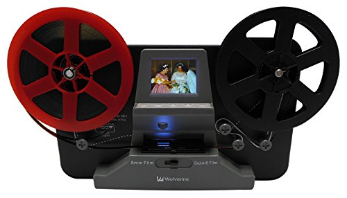 Wolverine 8mm and Super8 Reels Movie Digitizer with 2.4″ LCD, Black (Film2Digital MovieMaker)