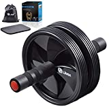 Limm Ab Roller Wheel for Abdominal Exercises and Advanced Core Fitness - Includes Soft Knee Pad, Storage Bag and Instructions Manual