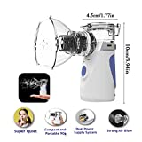 Cool Mist Vaporizer Humidifier with Mask | Portable, Handheld Steam Inhaler and Compressor Machine | Soothing Breathing Treatment System for Kids and Adults