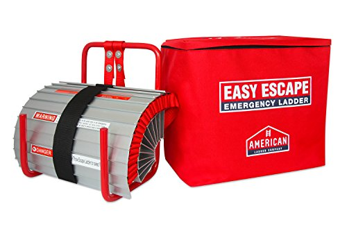Easy Escape 2 Story Emergency Fire Escape Ladder by American Ladder Co   13ft Portable Escape Ladder   Small and Easy to Store   Full Customer Warranty