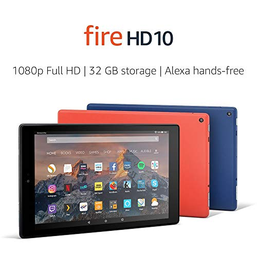 Fire HD 10 Tablet, 1080p Full HD Display, 64 GB, Black—with Special Offers (Previous Generation – 7th)