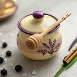 Lavender Floral Purple Ceramic Sugar Bowl