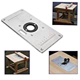 DIY Industrial Scientific Tool Accessories Router Table Insert Plate,Aluminum Router Table Insert Plate For Wood Working Benches 235mm x 120mm x 8mm
