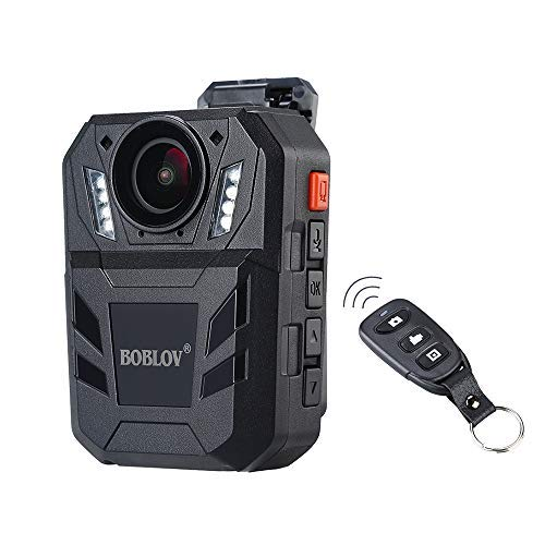 BOBLOV Amba Body Camera 1296P Body Worn Mounted Camera 170 Degree 9Hours Recording with Extra Remote Controller (Built-in 32G)