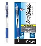 Pilot EasyTouch Retractable Ball Point Pens, Medium Point, Blue Ink, Dozen Box (32221)