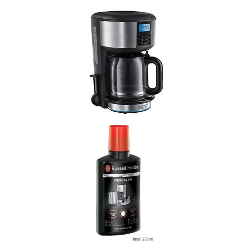 Russell Hobbs 20680 Buckingham Coffee Maker 125 L Black And Silver And 21220 Descaler 250 Ml