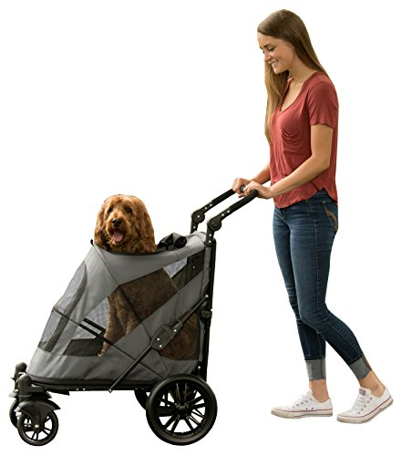 Pet Gear NO-Zip Stroller, Push Button Zipperless Dual Entry, for Single or Multiple Dogs/Cats, Pet Can Easily Walk in/Out, No Need to Lift Pet 1