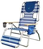 Ostrich 16in Altitude 3N1 Beach Chair & Lounger - Blue/White Stripe