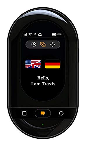 Travis Touch Smart Pocket Translator - 1GB Global Data SIM Card incl, 100+ Languages, Two Way Translations, Touch Screen, Hotspot