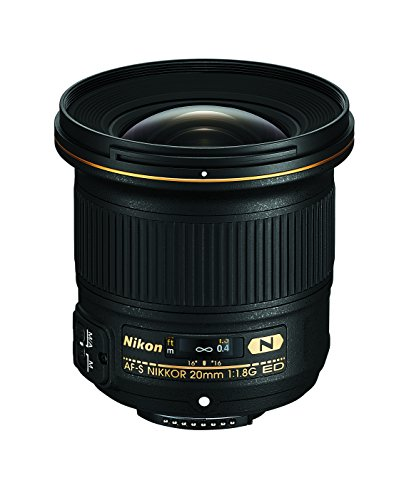 Nikon AF-S FX NIKKOR 20mm f/1.8G ED Fixed Lens with Auto Focus for Nikon DSLR Cameras