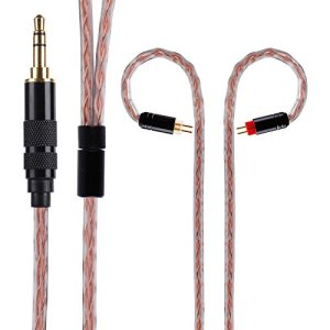 Earphones Replacement Cable Yinyoo Golden Treasure Silver Plated Copper Cable HiFi Headphone Cable with 0.78mm Connector 3.5mm Plug Headphones Cable for KZ AS10 ZS4 ZS10 ZSR ZS6 ZS5 TRN V80(2PIN 3.5)
