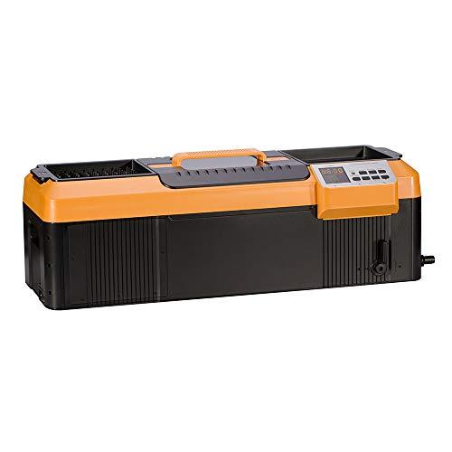 iSonic-P4890II-Commercial-Ultrasonic-Cleaner-Plastic-Basket-Heater-Drain-110V-23Gallons-9-Litre-255-Long-Tank-OrangeBlack