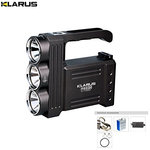 Super bright Flashlight KLARUS RS80 3XM-L2(U2) LEDs 3450LM beam throw 800M Portable Lanterns with battery pack + charger