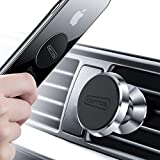 TORRAS Magnetic Car Mount, 360° Rotation Air Vent Cell Phone Holder Car Cradle Mount Compatible for iPhone Xs/Xs Max/XR/X / 8/7 Plus Galaxy S10 / S10+ / S9 / S9+ and More - Silver