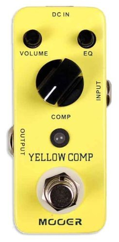 MOOER Acoustic Guitar Effect Pedal, 2.25 x 4.25 x 1.75 (Yellow Comp)