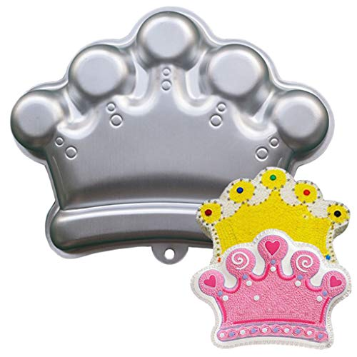 3D Cake Pan Crown Sport Aluminum Cake Baking Mold Non-Stick Tray 10.4 x 8.3 x 1.9 Inch (Imperial Crown)