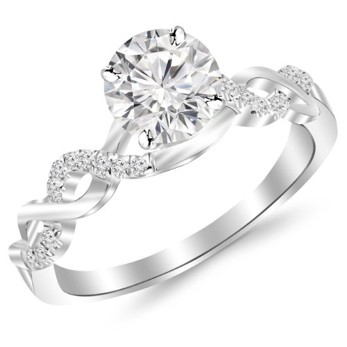 41VGcwu6ksL Houston Diamond District offers a 30 day return policy on all of its products Side Diamonds on Engagement Rings with Sidestones are G-H Color SI1-SI2 Clarity We only sell 100% Natural, conflict free diamonds.