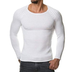 New Men Knitted Sweater Winter Fashion Solid Color Slim Fit Men Pullover