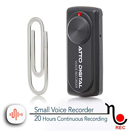 Small Voice Recorder with 20 Hours Battery Life   Ideal for Lectures, Meetings or Interviews   141 Hours Capacity on 8GB   nanoREC by aTTo digital