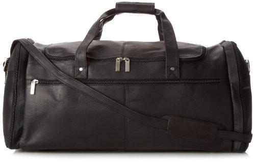 David King Leather Deluxe Duffel Bag in Tan