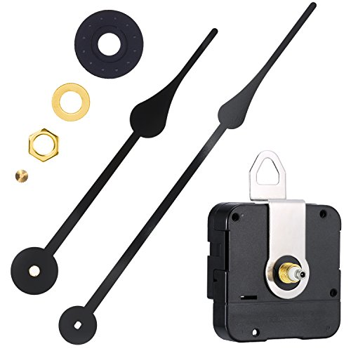 WILLBOND High Torque Clock Movement Replacement Mechanism with Clock Hands to Fit Dials Up to 56 cm/ 22 Inches in Diameter