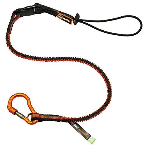 Shock Absorbing Tool Lanyard with Self-Locking Carabiner and Detachable Loop End, Tool Weight Capacity 5lbs, Ergodyne Squids 3102