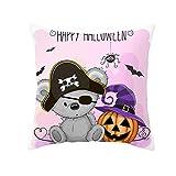 Iusun Fall Halloween Pillow Covers Owl Cat Series 17.72 x 17.72 Inches Square Waist Throw Case Autumn Harvest Season Decor Nordic Sofa Home Decor Cushion Covers (F)