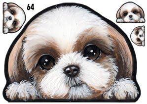 Amazon | 犬ステッカー シーズー64 シール雑貨グッズ | ステッカー ...