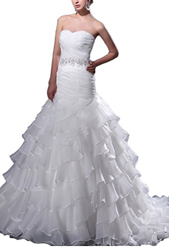 61yuVSPTIdL Organza wedding dresses Built-in bra. Dry clean only. Custom-made, Color-change Available