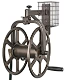 Liberty Garden 712 Single Arm Navigator Multi-Directional Garden Hose Reel, Holds 100-Feet of, 5/8-Inch, Bronze