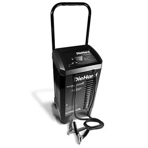 DieHard 71331 Smart Wheel Battery Charger & Maintainer (12 Volt 2 6A Charge 40A Boost 200A Jump Starter)