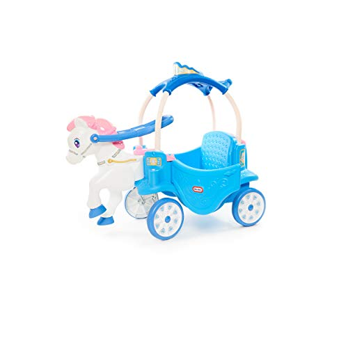 *Prime Day LAUNCH* Little Tikes Princess Horse & Carriage - Frosty Blue Ride-On