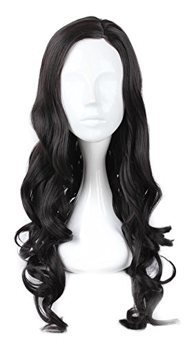 Mtxc Wonder Woman Cosplay Diana Prince Curly Wig Black