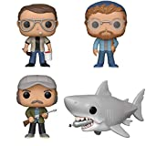 """Funko Movies: Pop! Jaws Collectors Set - Chief Brody, Matt Hooper, Quint, 6"""" Jaws with Diving Tank"""
