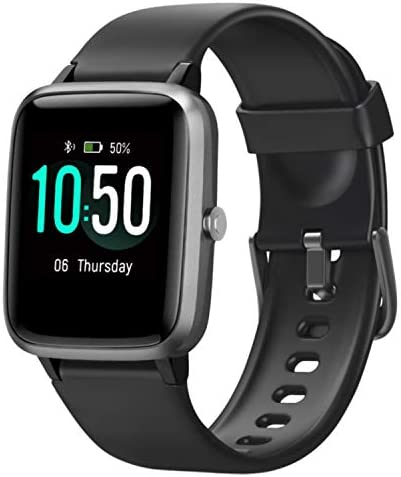 """Letsfit Smart Watch, Fitness Tracker with Heart Rate Monitor, Activity Tracker with 1.3"""" Touch Screen, IP68 Waterproof Pedometer Smartwatch with Sleep Monitor, Step Counter for Women and Men 9"""