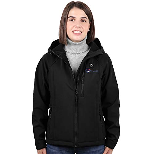OUTCOOL Women's Heated Jacket with Hood Slim-Fit Heated Battery Jackets [Type: NJK1801](S) Black