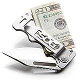 SOG Money Clip Pocket Knife - Cash Card Folding Knife, EDC Knife w/ 2.75 Inch Credit Card Knife Blade and Stainless Steel Money Clip Card Holder (EZ1-CP)