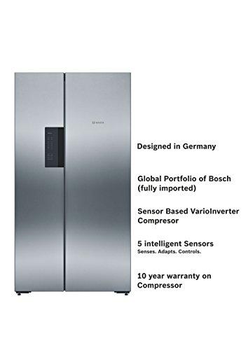 41Vktp2TtsL Bosch 661 L Frost Free Side-by-Side Refrigerator(KAN92VI35I, Stainless Steel, Inverter Compressor)