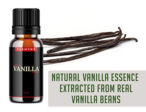 41VmJsjPI4L - FarmOwn Natural Real Vanilla Extract 30 ml Essence for Cooking, Baking, Food, Milk, Ice Cream, Cake