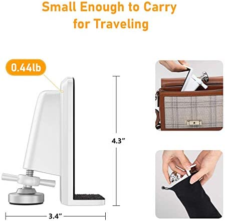 2-Pack Portable Door Jammers, No Drilling Required Home Travel Security Door Lock, Easy to Detach Door Stopper Security Device for Home Hotel Airbnb Apartment Dorm Office