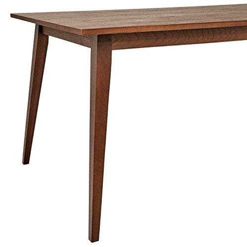 Rivet MidCentury Modern Oak Dining Table W Walnut Secret Roomz - Mid century oak dining table