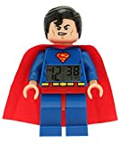 LEGO ' Super Heroes' Plastic Childrens Clock, Color:Superman (Model: 9005701)