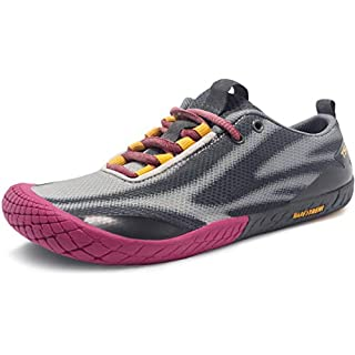 TSLA Women's Trail Running Shoes, Lightweight Athletic Zero Drop Barefoot Shoes, Non Slip Outdoor Walking Minimalist Shoes Best Road Running Shoes 2020