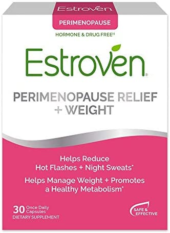 Estroven Perimenopause Relief + Weight Management Supplement - Helps Reduce Hot Flashes & Night Sweats - Helps Manage Weight - Contains Naturally-Sourced Black Cohosh - 30 Capsules 1