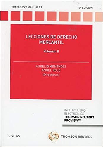 Libro PDF Gratis Lecciones de Derecho Mercantil Volumen II (Papel + e-book) (Tratados y Manuales de Derecho)