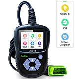 TopDiag JD316 Enhanced Mode 6 OBD2 Scanner Engine Fault Code Reader Diagnostic Scan Tool for Smog Check with Battery Condition Test (Black)