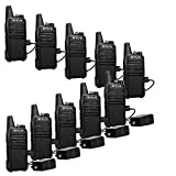 Retevis RT22 Two Way Radios Rechargeable Walkie Talkies 16 CH VOX Channel Lock Emergency Alarm 2 Way Radio(10 Pack)